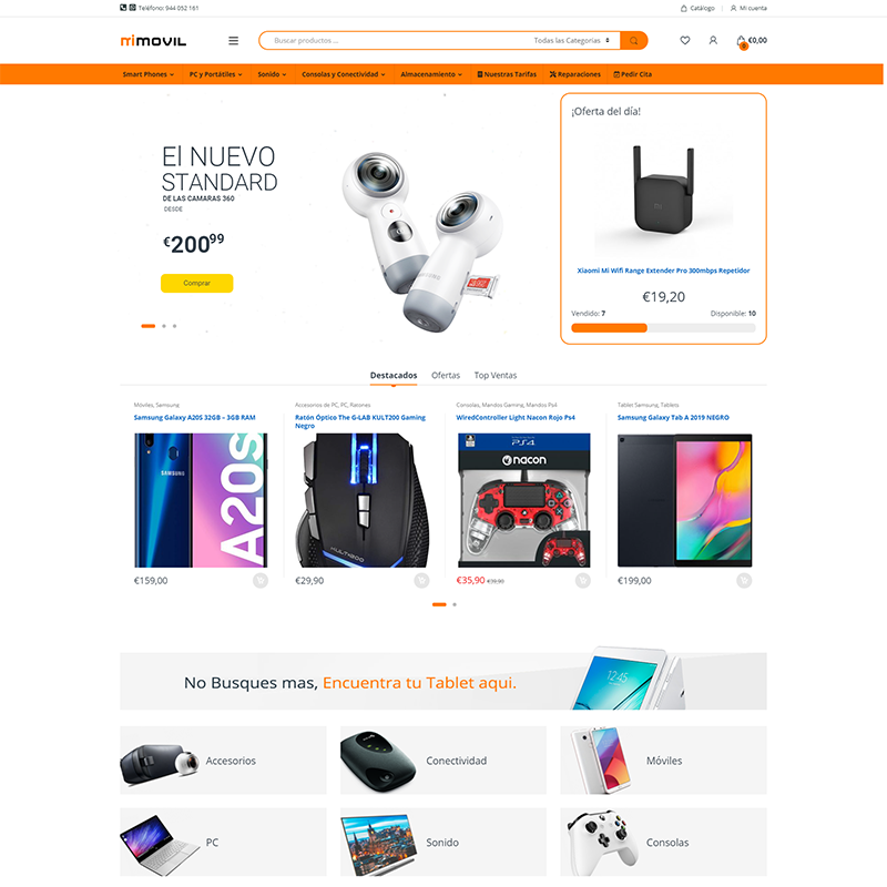 Portafolio Proyecto: Mi Movil Tienda Online