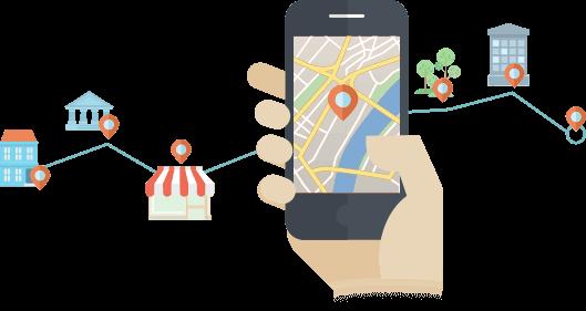 Establecimientos apareciendo en Google Maps gracias al SEO Local.
