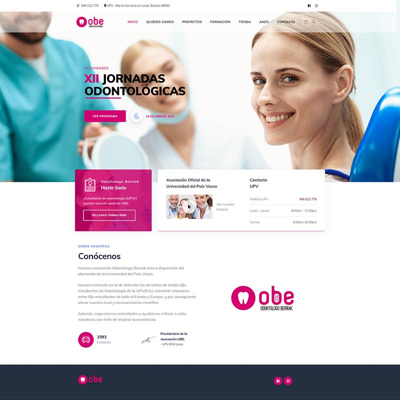 Portafolio Proyecto: OBE Odontologo Berriak Asociación de UPV