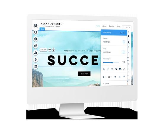 Mockup Alquiler Tienda Online Drag and Drop